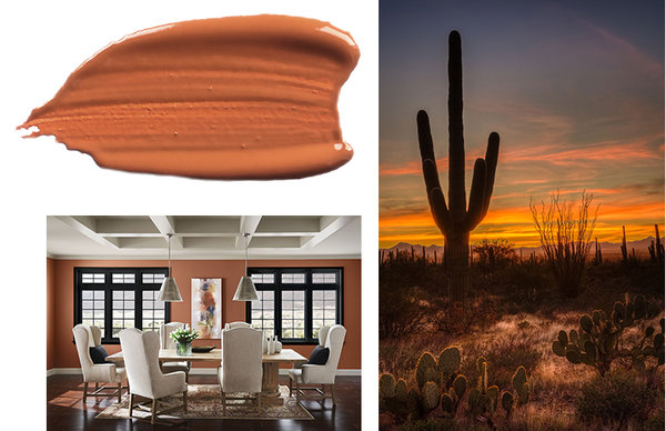 Color of the year 2019. Sherwin-Williams Cavern Clay SW 7701 (290-C6)