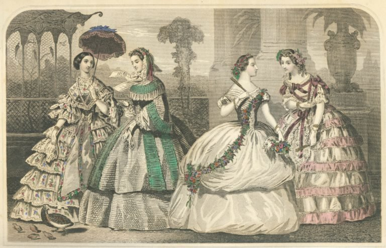 Godey's Lady's Book Fashion Plate 1859