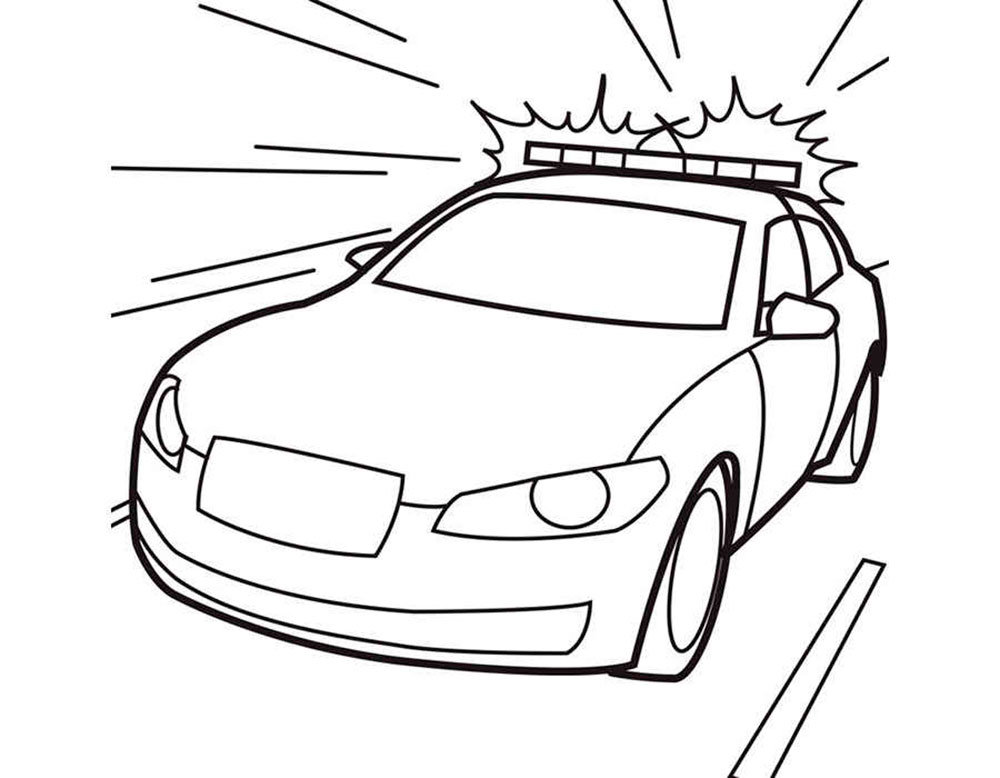 police car coloring pages getcoloringpagescom - 900×720