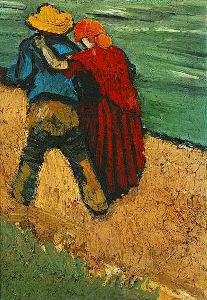 Two Lovers, Arles (Fragment), Vincent van Gogh,  1888