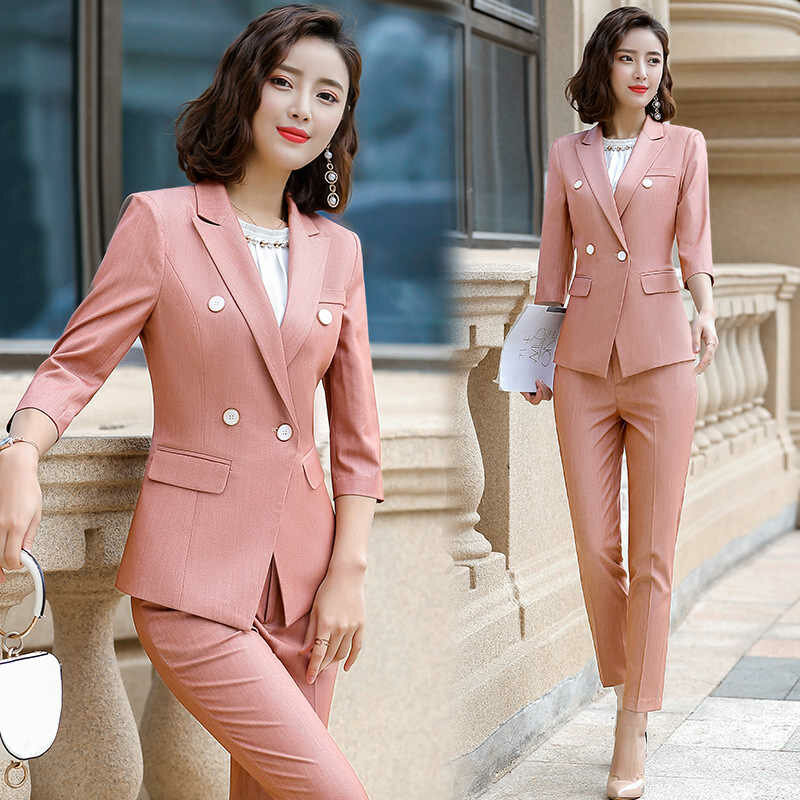 Five ways to look feminine in a pantsuit