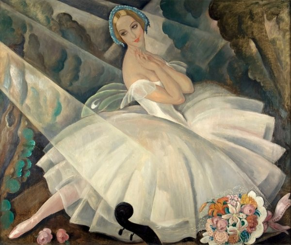 Gerda Wegener. The Ballerina Ulla Poulsen in the Ballet Chopiniana Paris, 1927