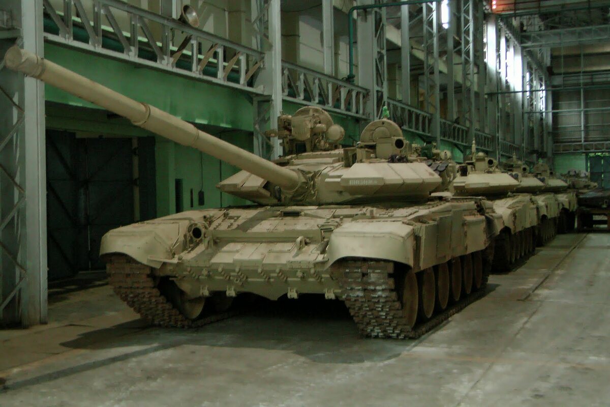 T-90 tanks at the Awadi plant assembly plant in Chennai.