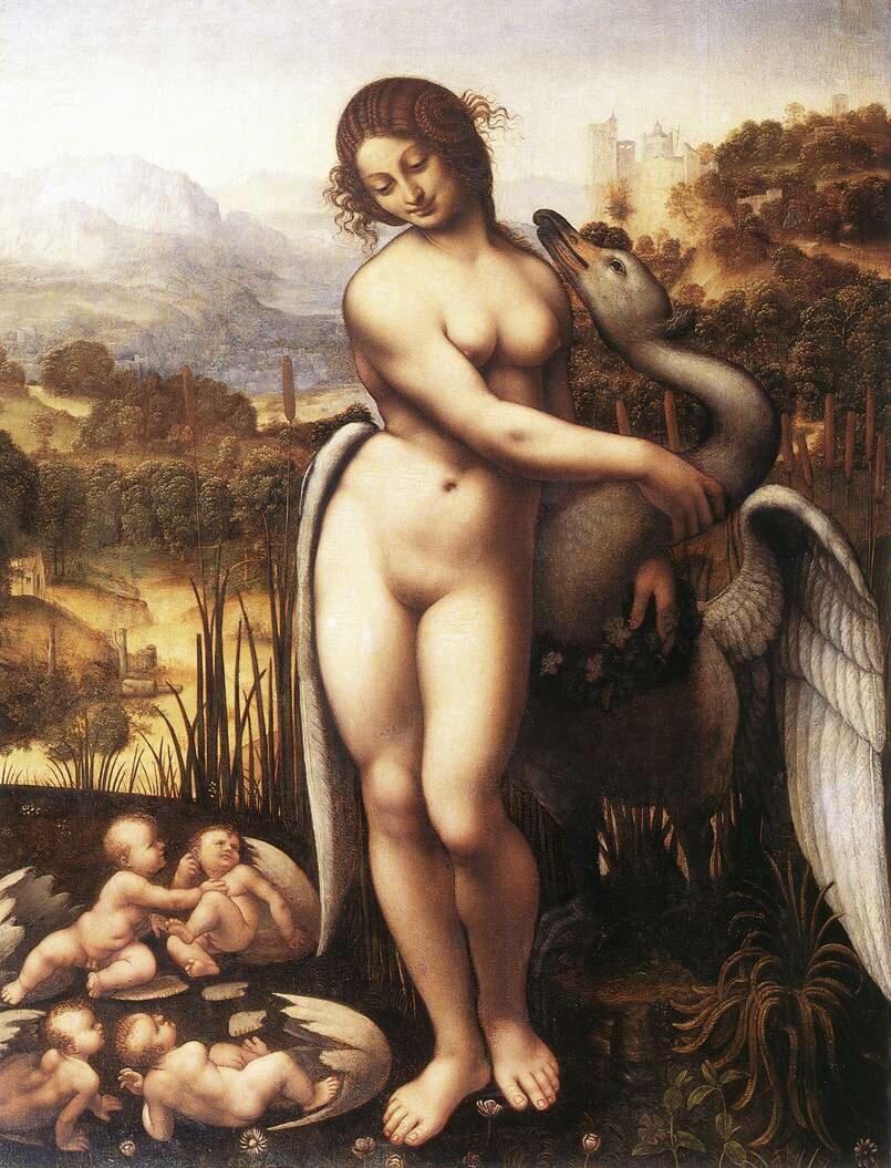 Cesare Da Sesto, Leda and the Swan, 1505-1520, Wilton House (Salisbury, United Kingdom).