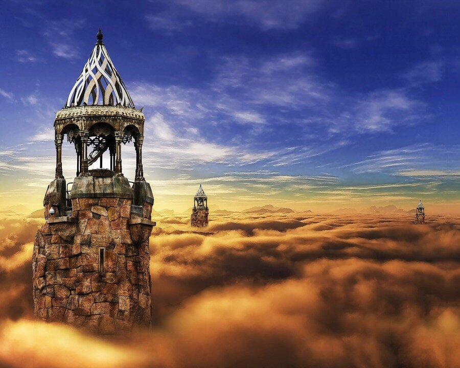 https://pixabay.com/photos/fantasy-castle-cloud-sky-tower-782001/
