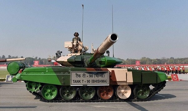 Indian army T-90s MBT during army day parade