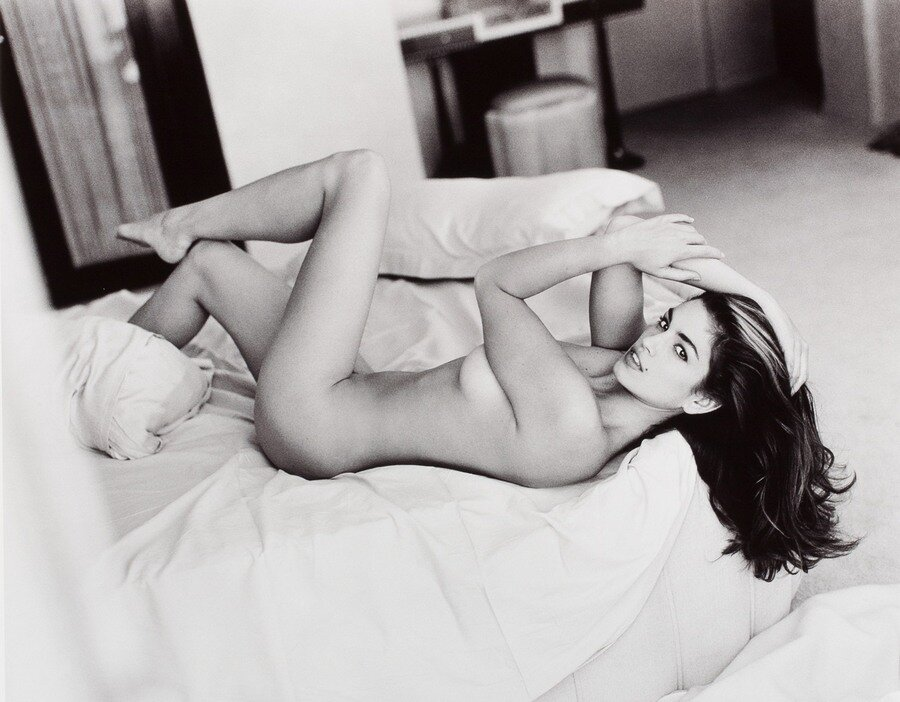 Nude female laying study by peter crawford