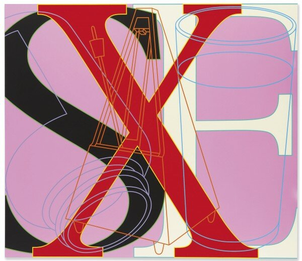 Michael Craig-Martin. Untitled (SEX), 2007, эстимейт 40-60 тыс. евро.