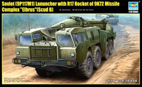 "Soviet (9P117M1) Launcher with R17 Rocket of 9K72 Missile Complex ""Elbrus""(Scud B) Trumpeter - Nr. 01019 - 1:35"