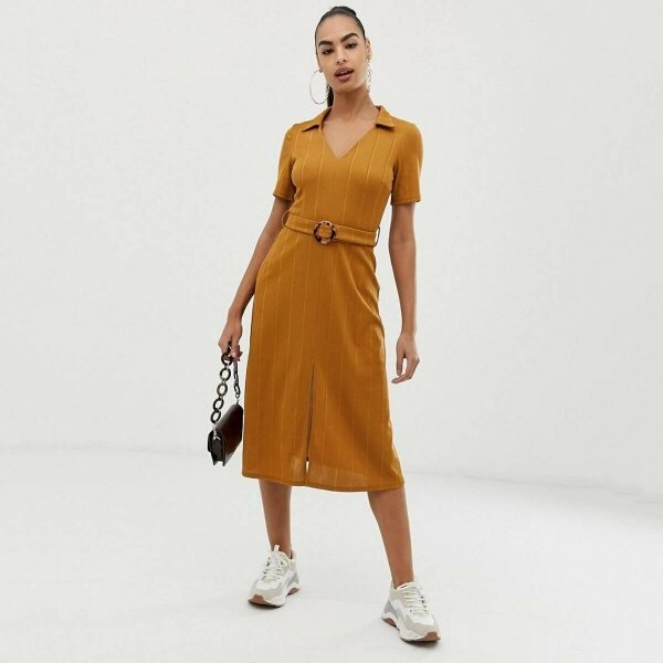 ASOS Rib Midi Shirt dress