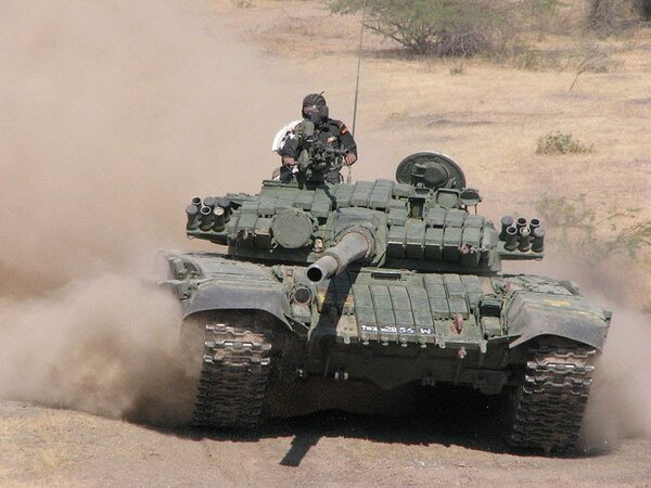 The T-72 tank was first bought and then manufactured by India under license.