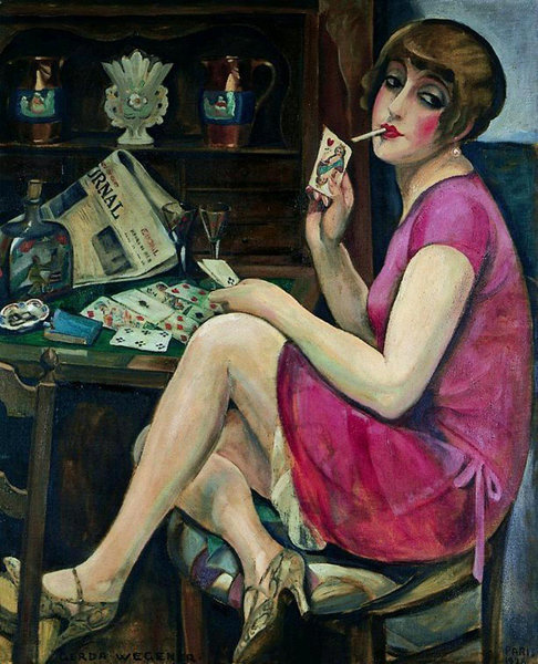 G.Wegener. Lili Elbe in a domestic setting. (Дама червей), 1928