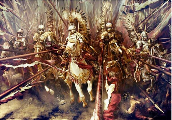 Winged hussars attack