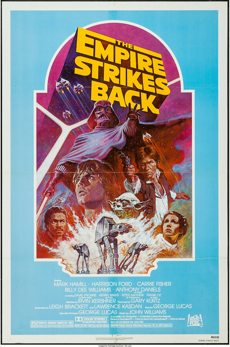 The Empire Strikes Back - 1982 Re-Release. Art by Tom Jung.