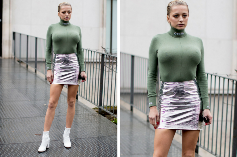 Why not wear a turtleneck to a woman with big breasts?