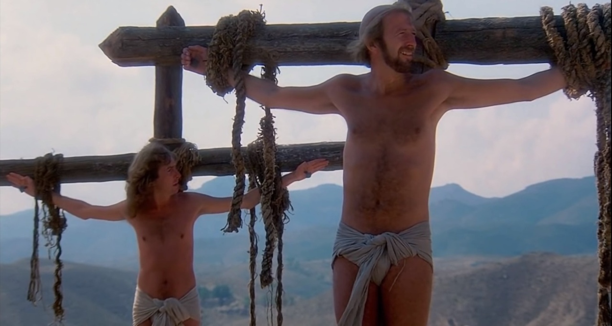 Monty python topless chase meaning video