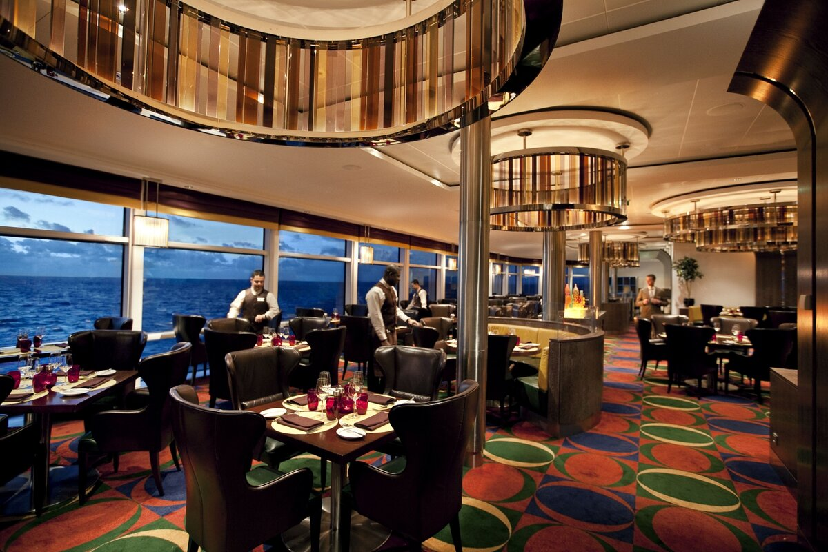 Restaurant on board the cruise ship