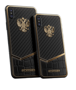 285 000 РПодробнее Caviar iPhone Xs | Xs MaxRussia Alligator Carbon Gold