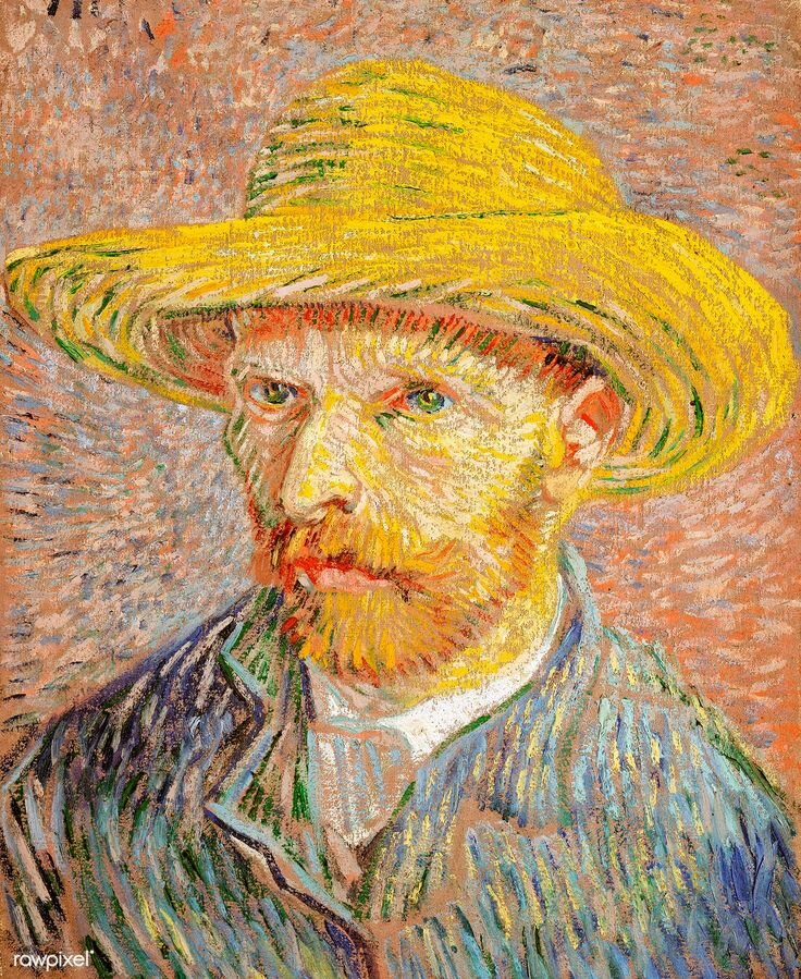 Self-Portrait with Straw Hat 18877