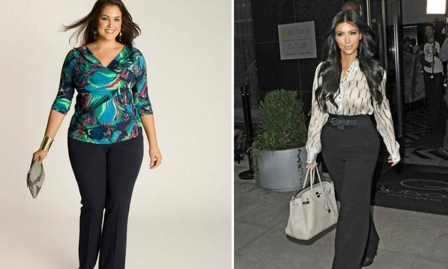 How to dress a woman with wide and massive hips