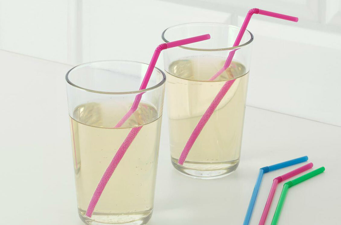 Straw in the drink
