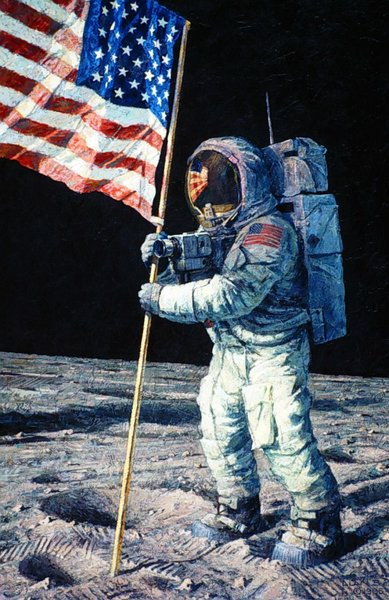 neil armstrong on the moon - HD 844×1300