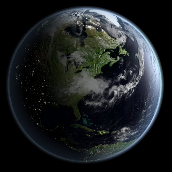 """""""Earth - Global Elevation Model with Satellite Imagery (Version 6)"""" by Kevin Gill is licensed under CC BY 2.0"""