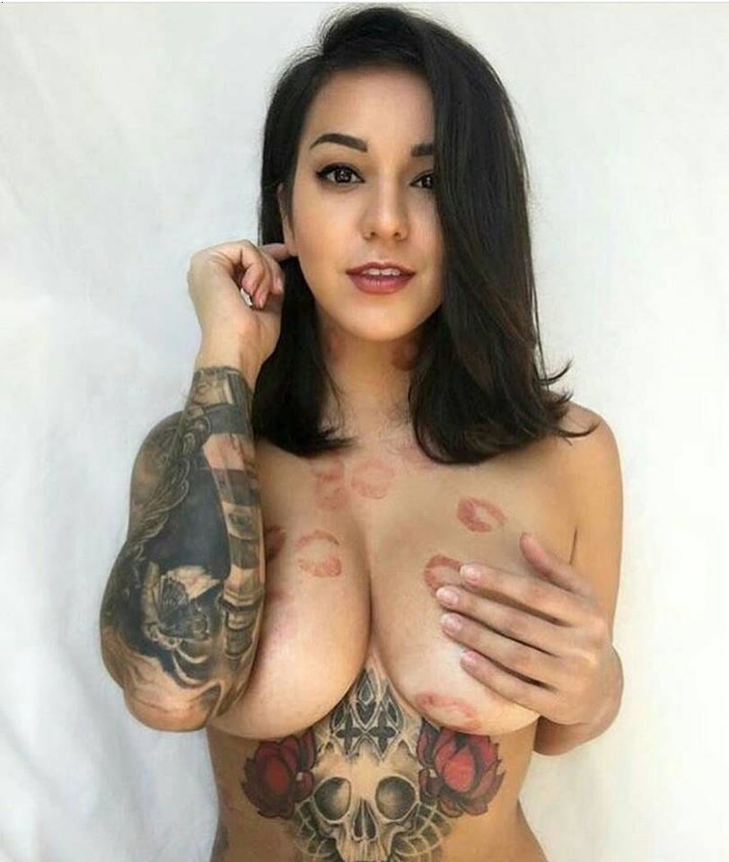 Huge tits with tattoos