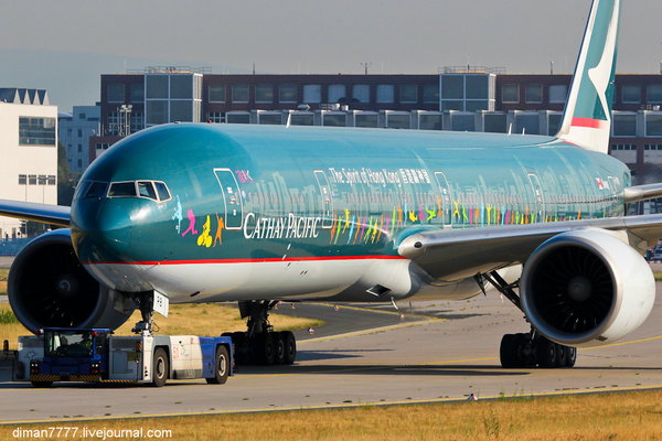 "02. Cathay Pacific / Boeing 777-367(ER) / B-KPB ""The Spirit of Hong Kong"""