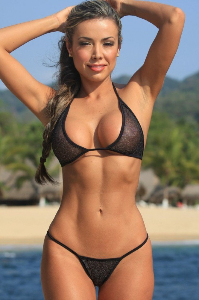 Picture of beautiful woman in tiny bikini