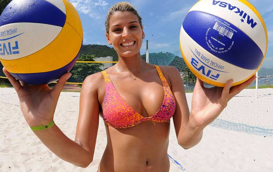 Volleyball big boobs, thin curvy sexy girl