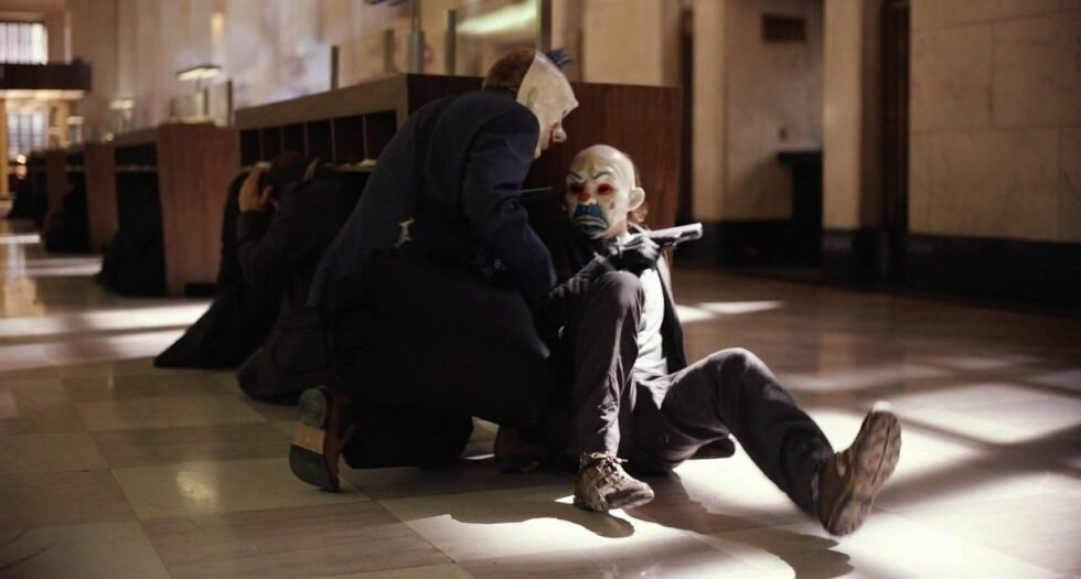 """Frame from the movie """"The Dark Knight"""" 2008"""