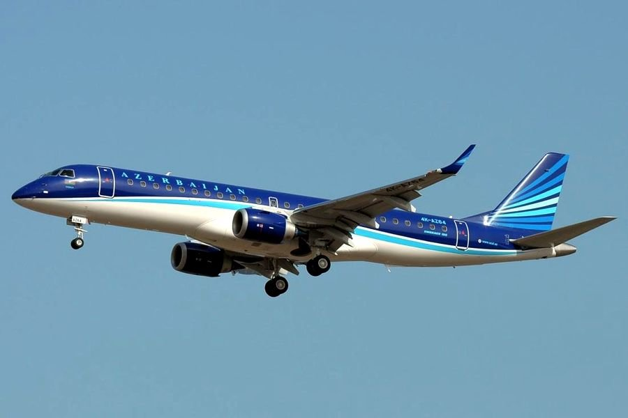 Embraer 190AR авиакомпании AZAL до миграции в Buta Airways