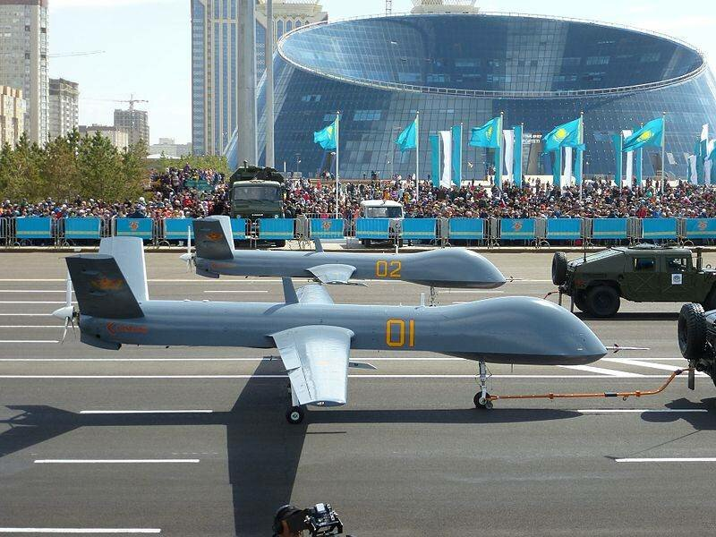 Wing Loong of the Armed Forces of Kazakhstan during the parade in Astana