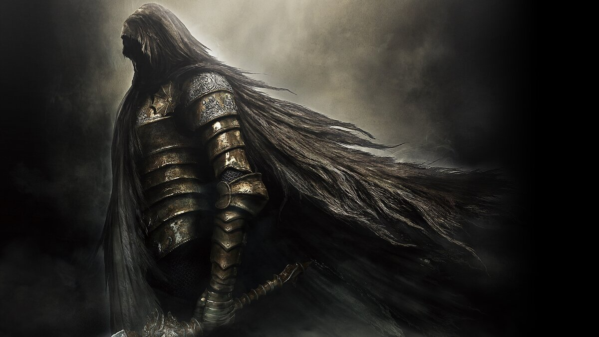 In games of Dark Souls, it is always as impersonal as possible, this allows you to better immerse yourself in the game