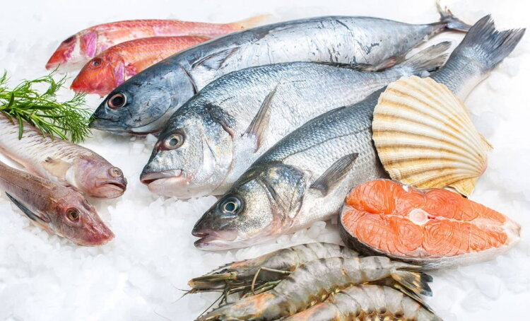 fish on the shelves of Russia