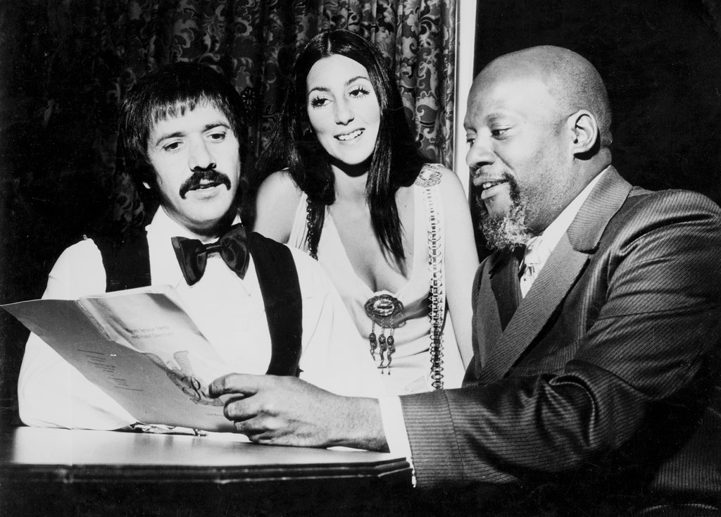 Sonny Bono, Cher Sarkisyan, Harold Battiste (1970) Photo © The Historic New Orleans Collection
