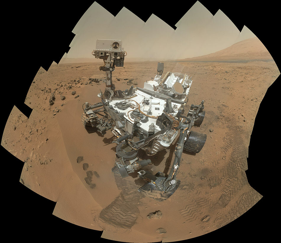Марсоход Curiosity. Изображение: NASA/Jet Propulsion Laboratory/University of Arizona