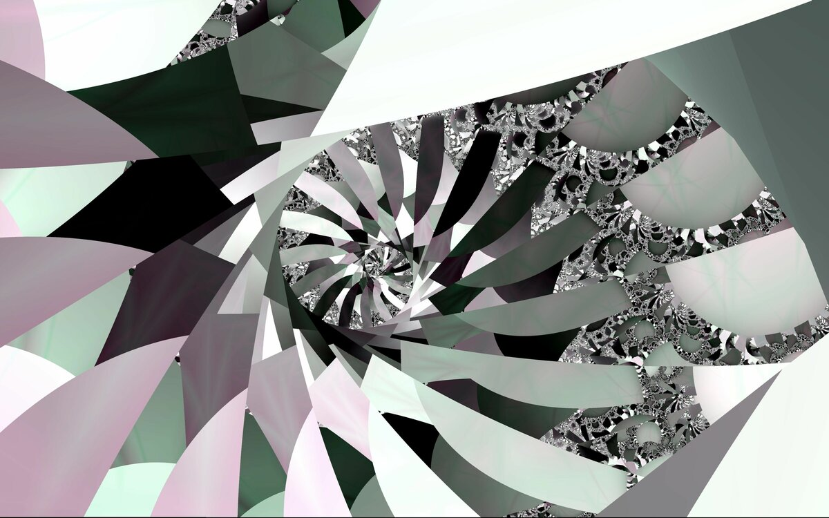Two Original Fractal .\\\ DigitalART. \\\Spiral staircase.//&\\Frames delay a reality in outside a dark sunset.///