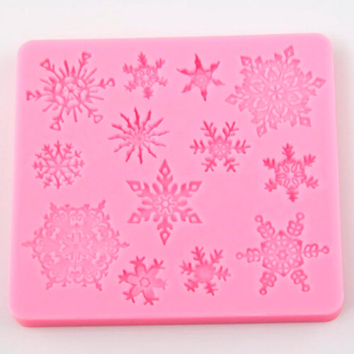 1PC 3D christmas decorations snowflake Lace chocolate Party DIY fondant baking cooking silicone cake mold decorating tools