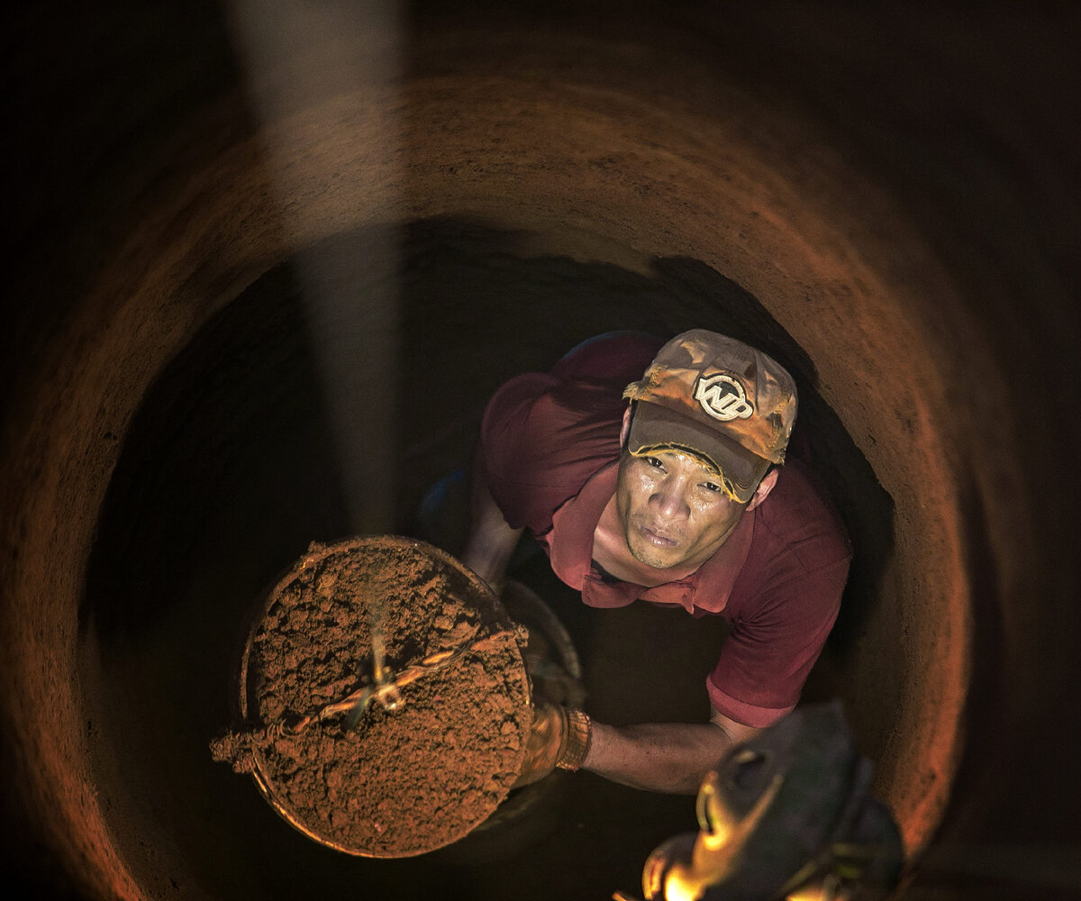 Quoc Nguyen Linh Vinh, Digging wells to find water in the dry season