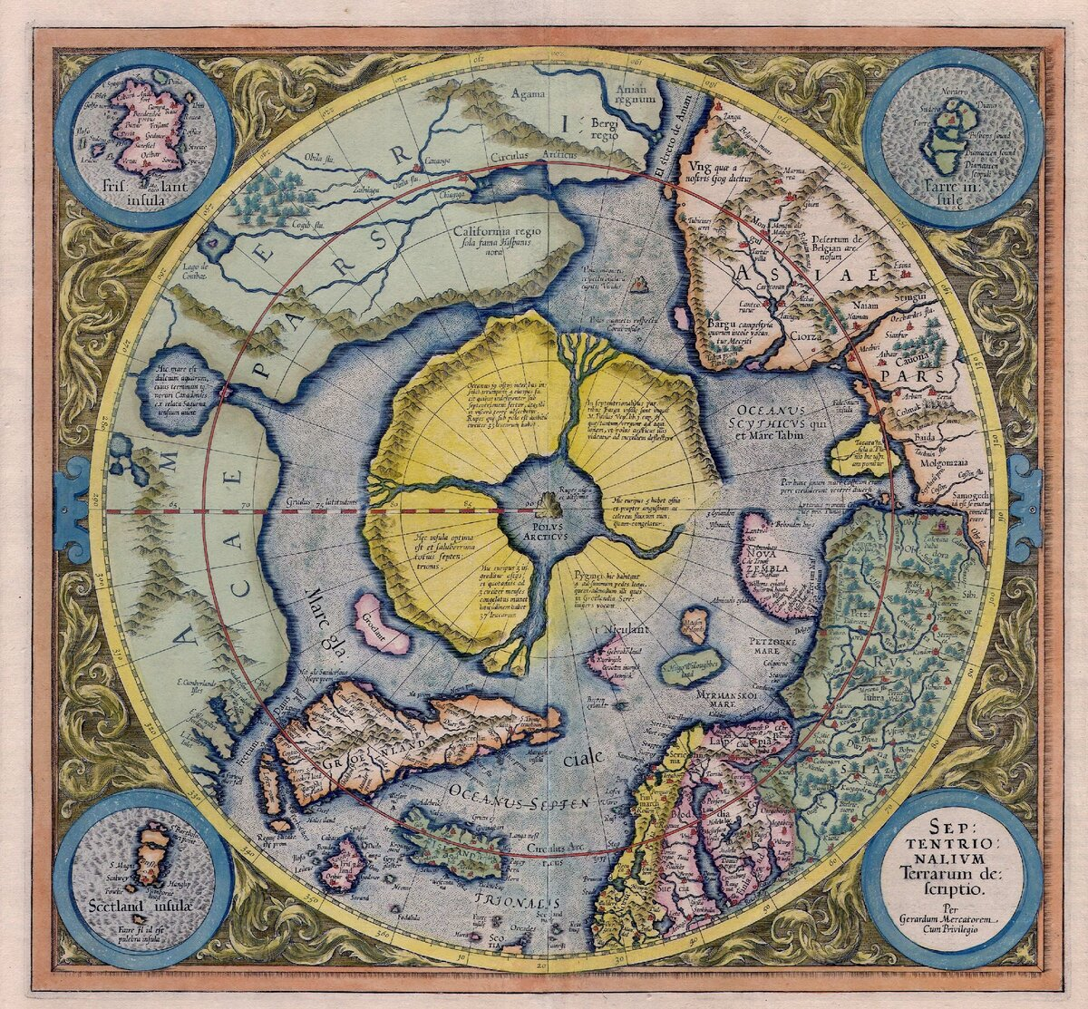 Автор: Gerardus Mercator, with addition of data from Willem Barentsz voyages - Helmink Antique Maps, Общественное достояние, https://commons.wikimedia.org/w/index.php?curid=2065045