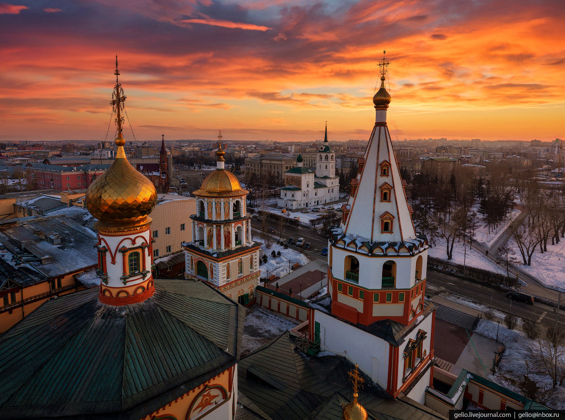 Irkutsk from above – the cultural capital of Eastern Siberia