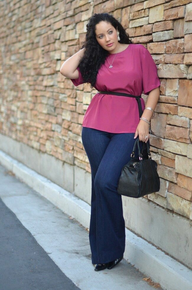 Jeans for women plus size. How to choose the right color and style?