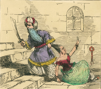 """From the """"History of Bluebeard"""", c. 1880"""