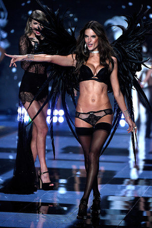 LONDON, ENGLAND Alessandra Ambrosio Victoria's Secret fashion show at Earls Court