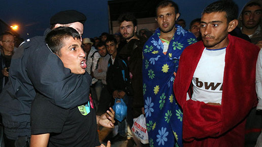 European men watch migrants rape their women