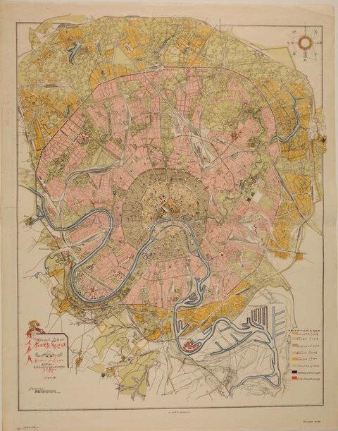 Проектный план Новая Москва (мастерская под руководством архитектора А.В.Щусева, 1923.