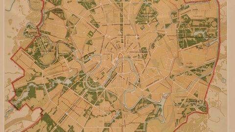 Схема планировки Москвы, 1935.