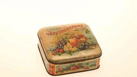 Коробка упаковочная СССр, 1-я пол. XX века Жесть, штамп, краска